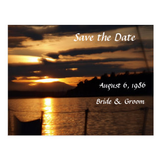 Sailing Wedding Theme Postcard