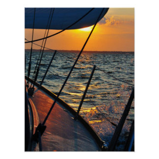 Sailing West Print