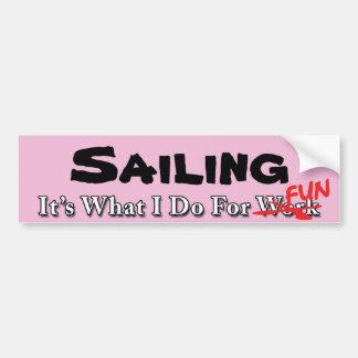 Sailing - What I Do For FUN Sticker