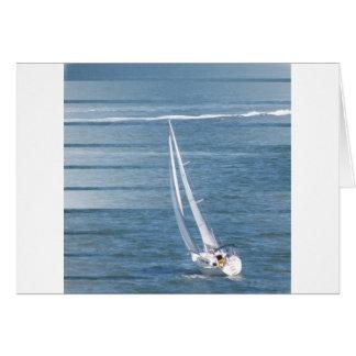 Sailing Wind Design Greeting Card