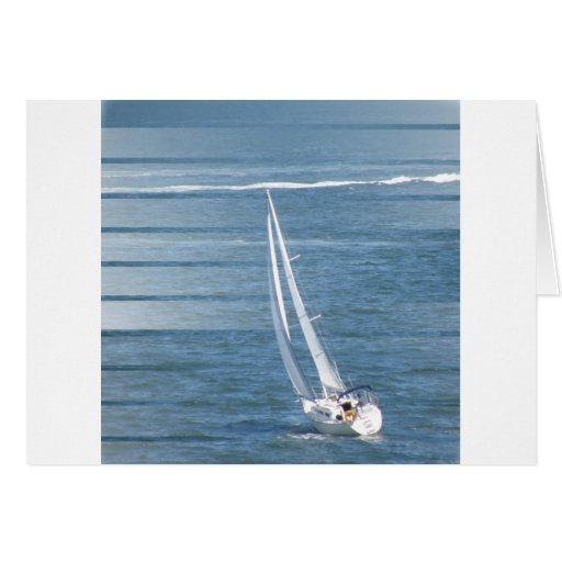 Sailing Wind Design Greeting Card