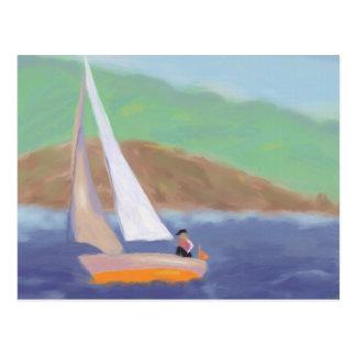 Sailing Wind & Speed, Mousepad Postcard