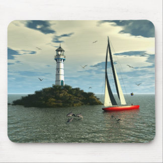 Sailing with dolphins mousepad