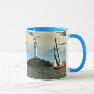Sailing with dolphins mug