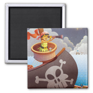 Sailing with Pirates Refrigerator Magnets