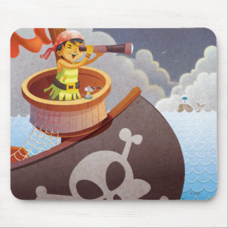 Sailing with Pirates Mouse Pad