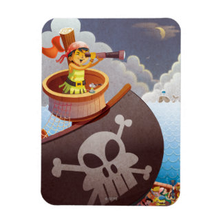 Sailing with Pirates Vinyl Magnet