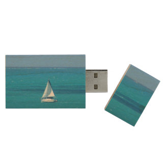 Sailing Wood USB Flash Drive