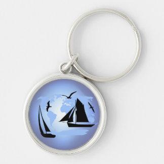Sailing World Key Chain