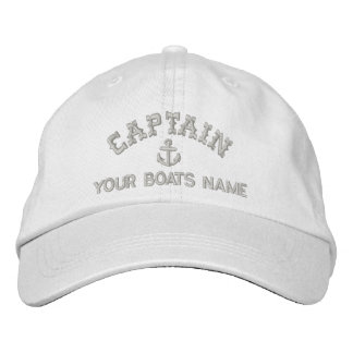 Sailing yacht captains embroidered baseball cap