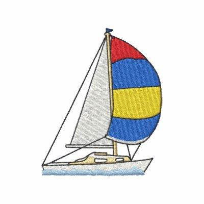 Sailing Yacht Embroidered Polo Shirt