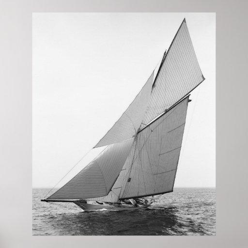 Sailing Yacht Gloriana, 1891 Print