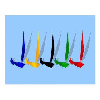 Sailing   Yacht lovers yachting sail boat Postcard