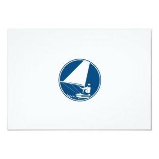 Sailing Yachting Circle Icon 9 Cm X 13 Cm Invitation Card