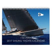 Sailing Yachts 2017 Cory Silken Calendar