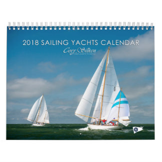 Sailing Yachts 2018 Cory Silken Calendar