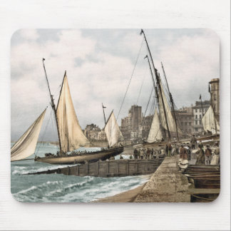 Sailing yachts ready to leave, Hastings, England Mouse Pad