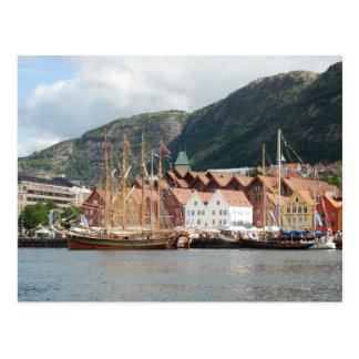 Sailingships at Bryggen Postcard