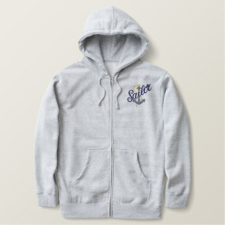 Sailor Anchor Embroidered Hoodie