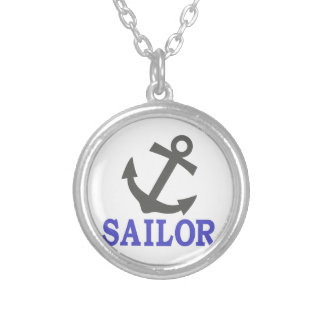 Sailor Anchor Silver Plated Necklace