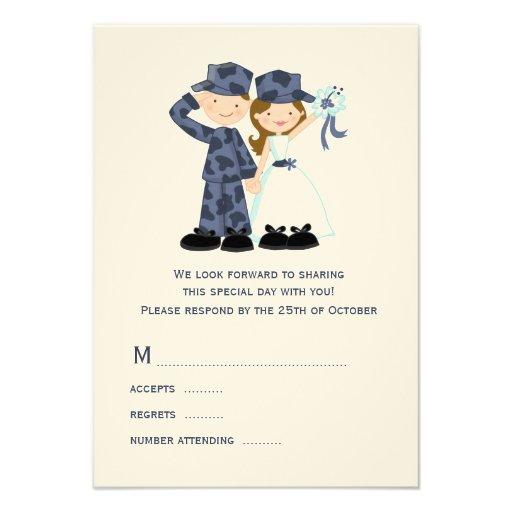 Sailor And Bride Wedding RSVP Cards