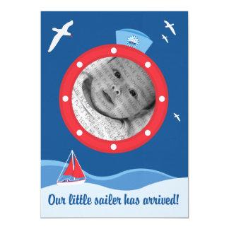 Sailor baby Announcement