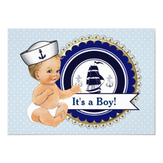Sailor Baby Nautical Baby Shower Card