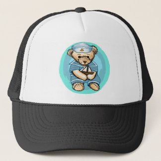 Sailor Bear Baby Trucker Hat