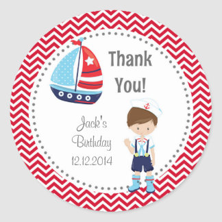 Sailor Boy Birthday Stickers