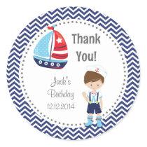 Sailor Boy Birthday Stickers
