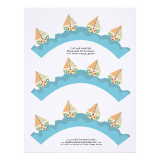 Sailor Boy Cupcake Wrappers Printable Template Letterhead Template