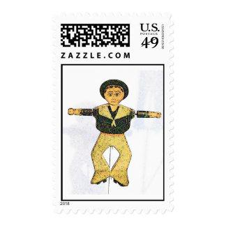 Sailor boy Whirligig Postage Stamp