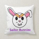 Sailor Bunniez Throw Pillow