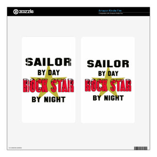 Sailor by Day rockstar by night Kindle Fire Skins