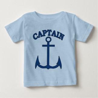 Sailor Captain Blue Anchor Baby Boy T-shirt