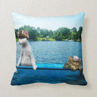 Sailor Cats Throw Pillow