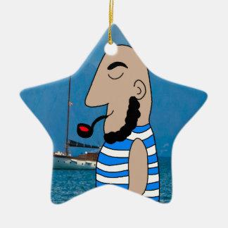 Sailor Ceramic Ornament