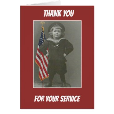 Sailor Child Military American Flag Patriotic Card