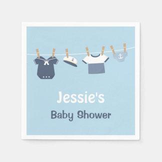 Sailor Clothes Nautical Baby Shower Supplies Paper Napkin