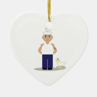 Sailor & Ducks Ceramic Heart Decoration