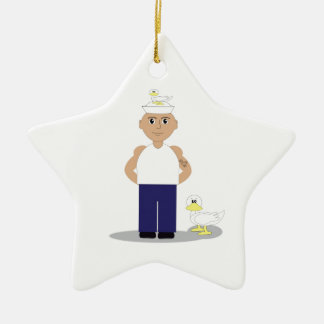 Sailor & Ducks Ceramic Star Decoration