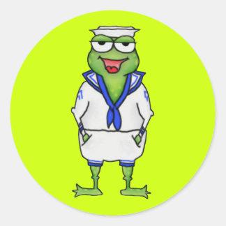 Sailor Frog Sticker