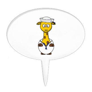 Sailor Giraffe Cartoon Cake Topper