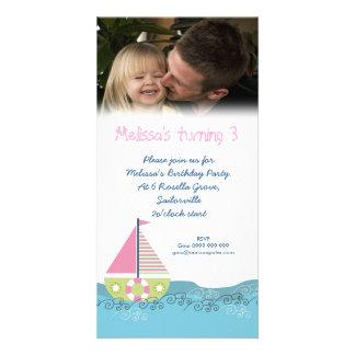 Sailor Girl Birthday Party Invitation Photocard