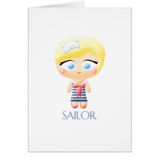 Sailor Girl Card