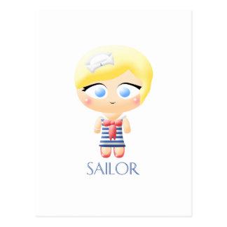 Sailor Girl Postcard
