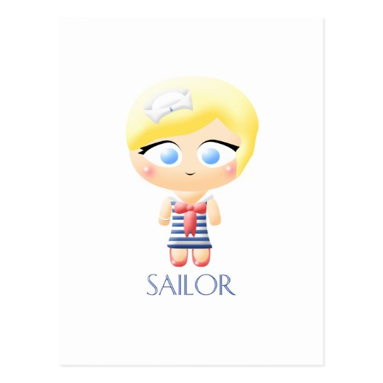 Sailor Girl Postcard