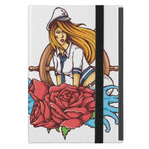 Sailor Girl Tattoo Style Art Cover For iPad Mini