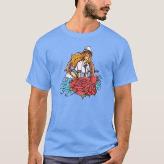 Sailor Girl Tattoo Style Art T-Shirt