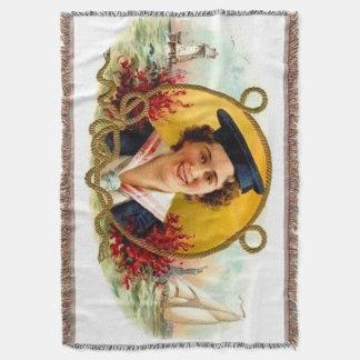 sailor girl throw